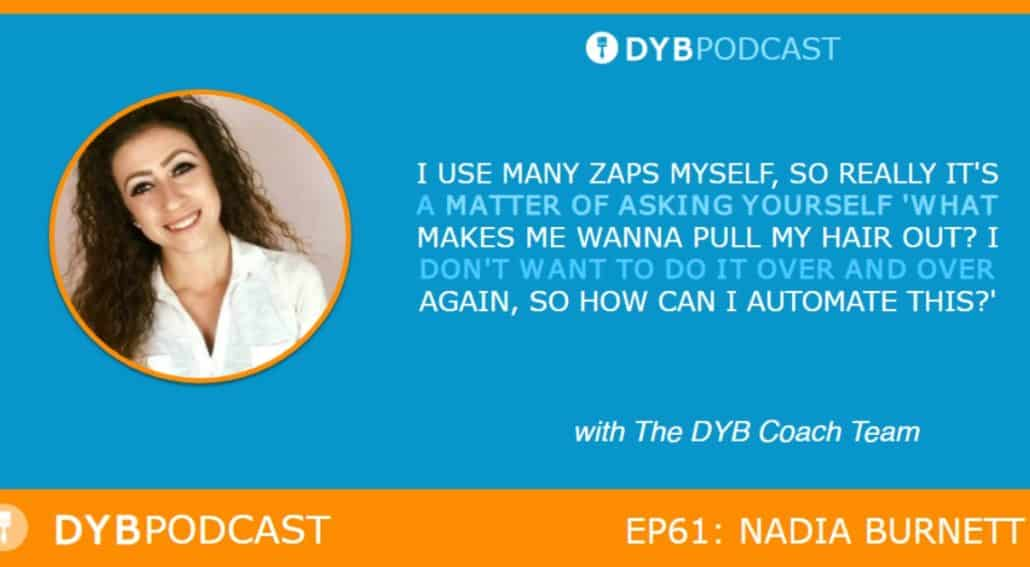 DYB Virtual interview, Nadia Burnett, DYB Coach, DYB Podcast, Virtual Assistant