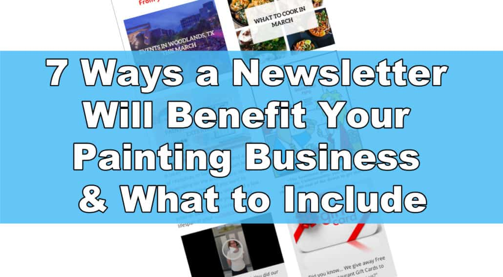 painting contractor, newsletter, painting business, mailchimp, virtual assistance, DYB Virtual